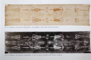 Positive and negative image of the Shroud
