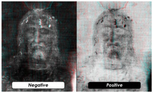 Photographic positive and negative face