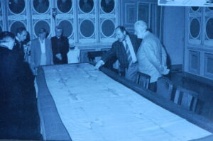 Checking Shroud for damages after 1997 fire