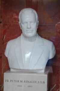 Sculpture of Father Peter Rinaldi