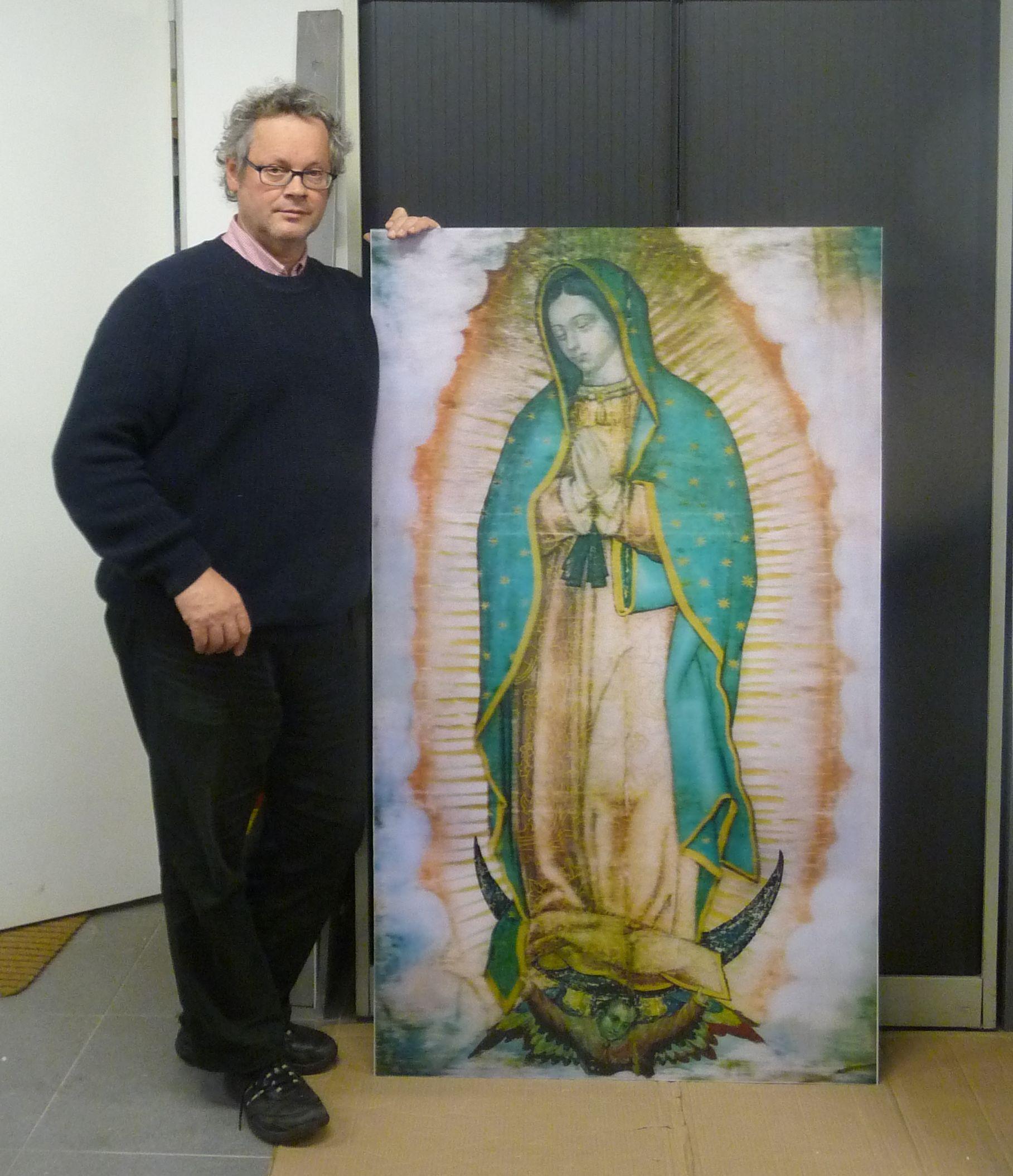 WALTER SPIERINGS with lenticular Virgen de Guadalupe
