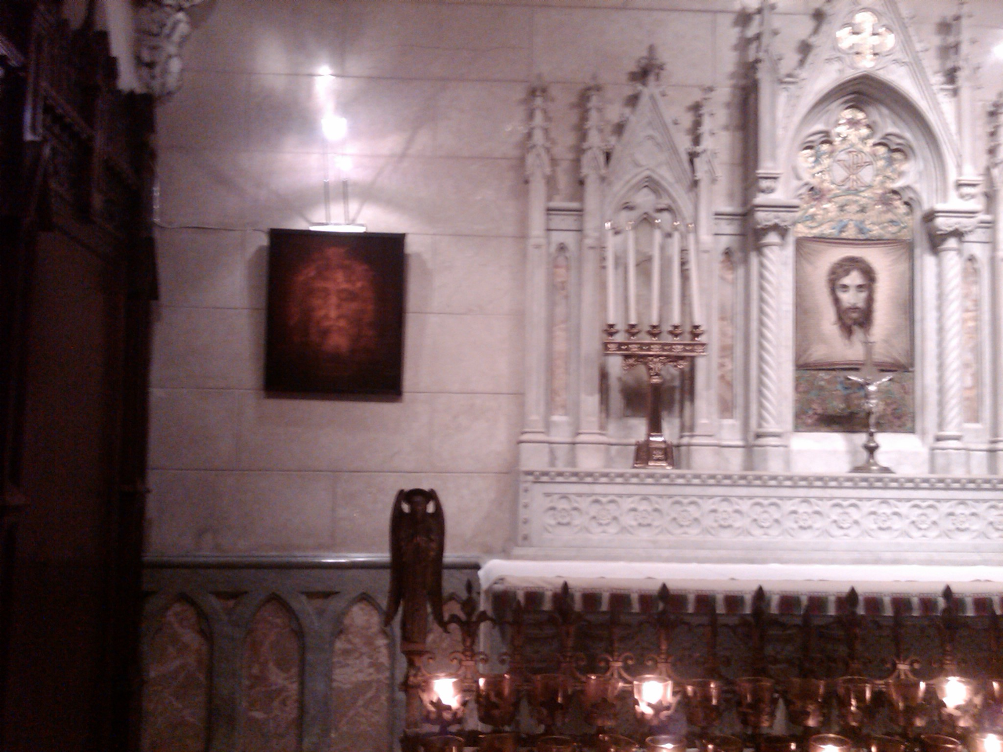 Face hologram in St. Patricks's Cathedral