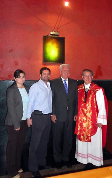 Inauguration face hologram Basilica Mexico