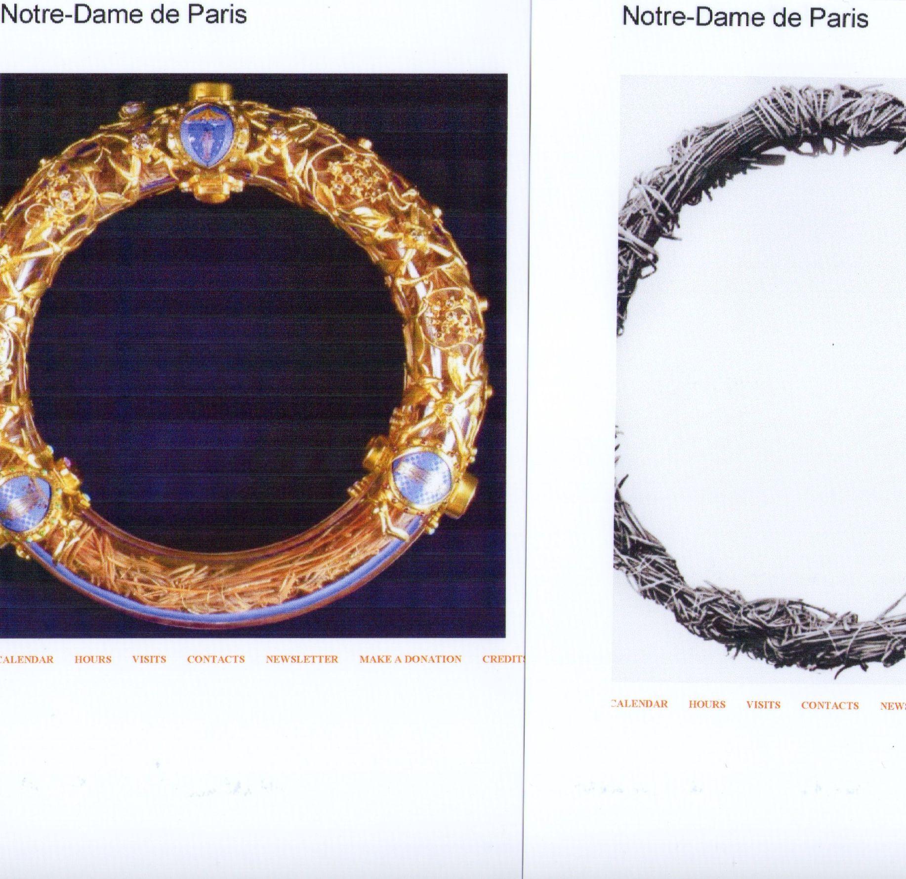 Photo 7 Crown part in Notre Dame Paris