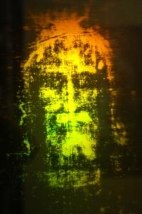 Figure 1. Hologram showing solid object under beard
