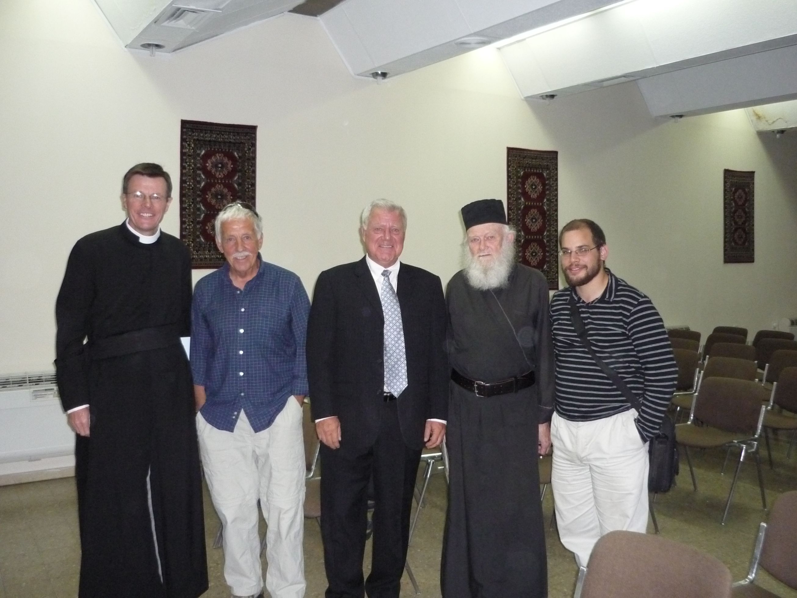 Image 19. Father Eamon Kelly, Dr. Soons, Bishop Barclay and Student