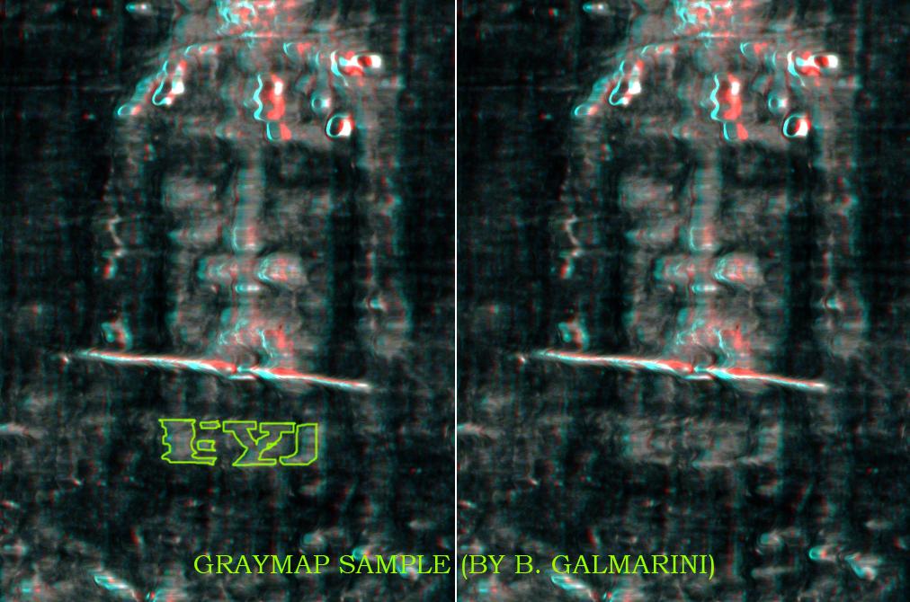 Image 6. Face rigth side letters (Galmarini) ANAGLYPH USE 3D GLASSES