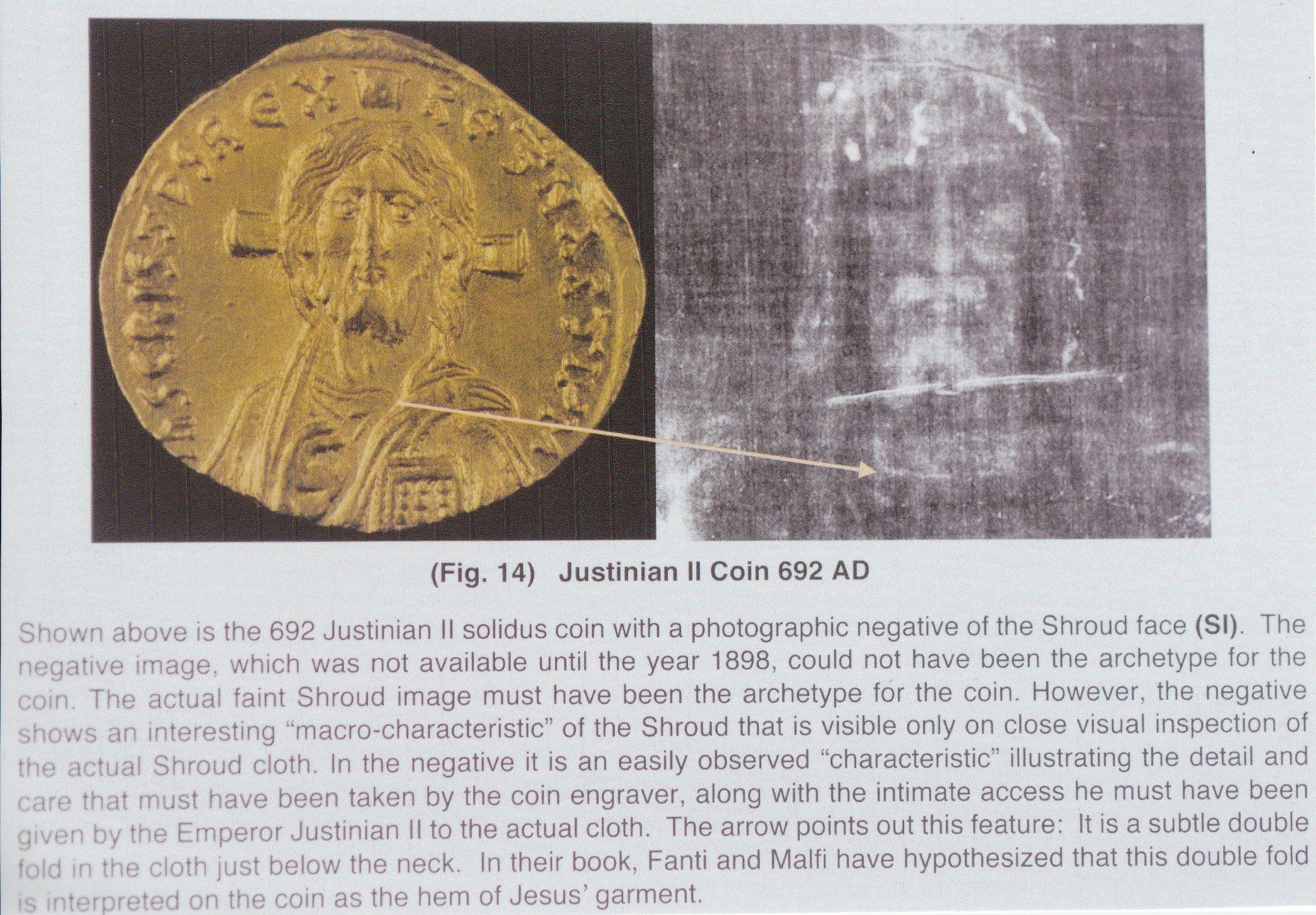 Photo 27. Solidus coin and text John Jackson