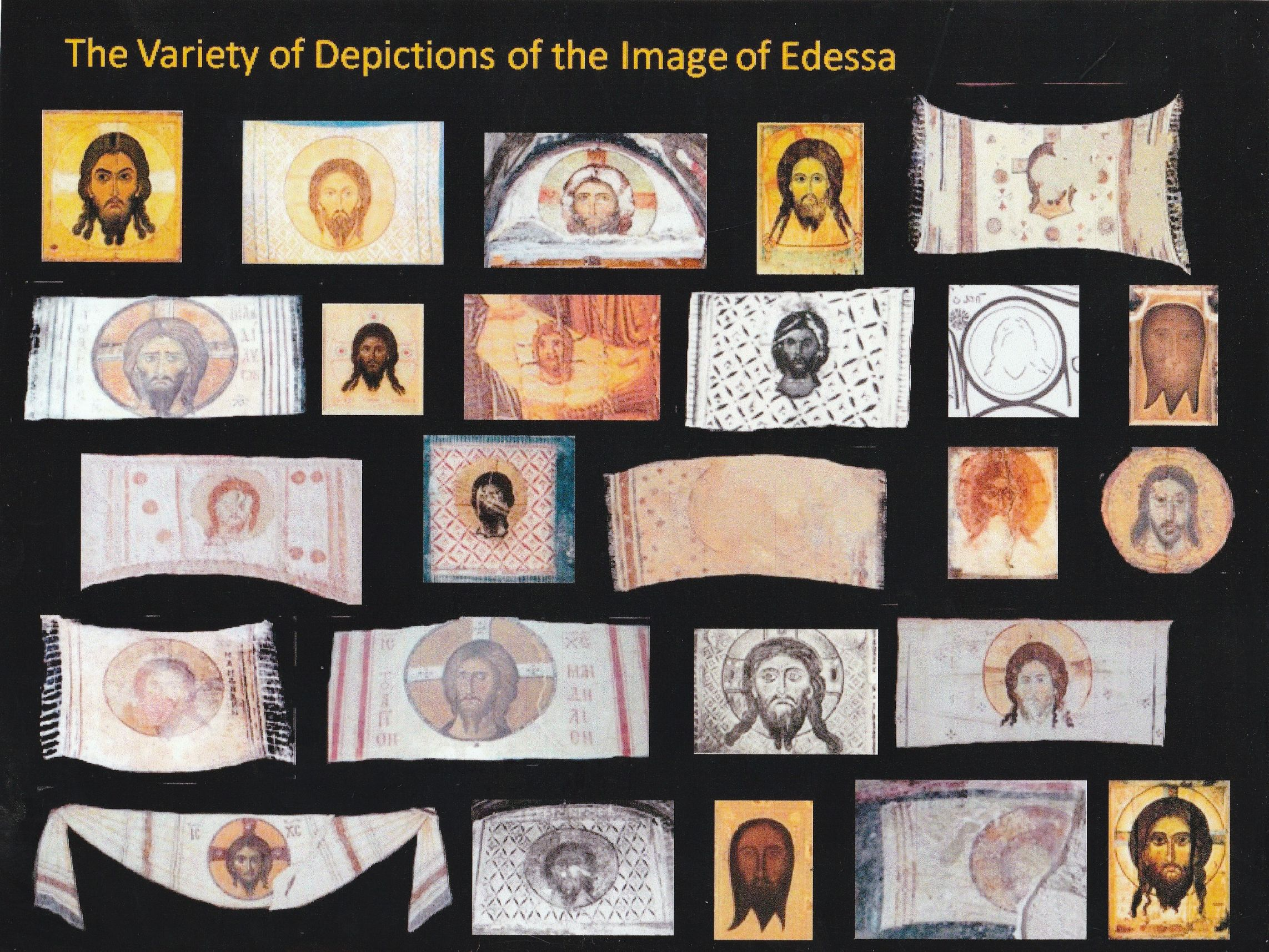 Photo 9a. Depictions cloth of Edessa