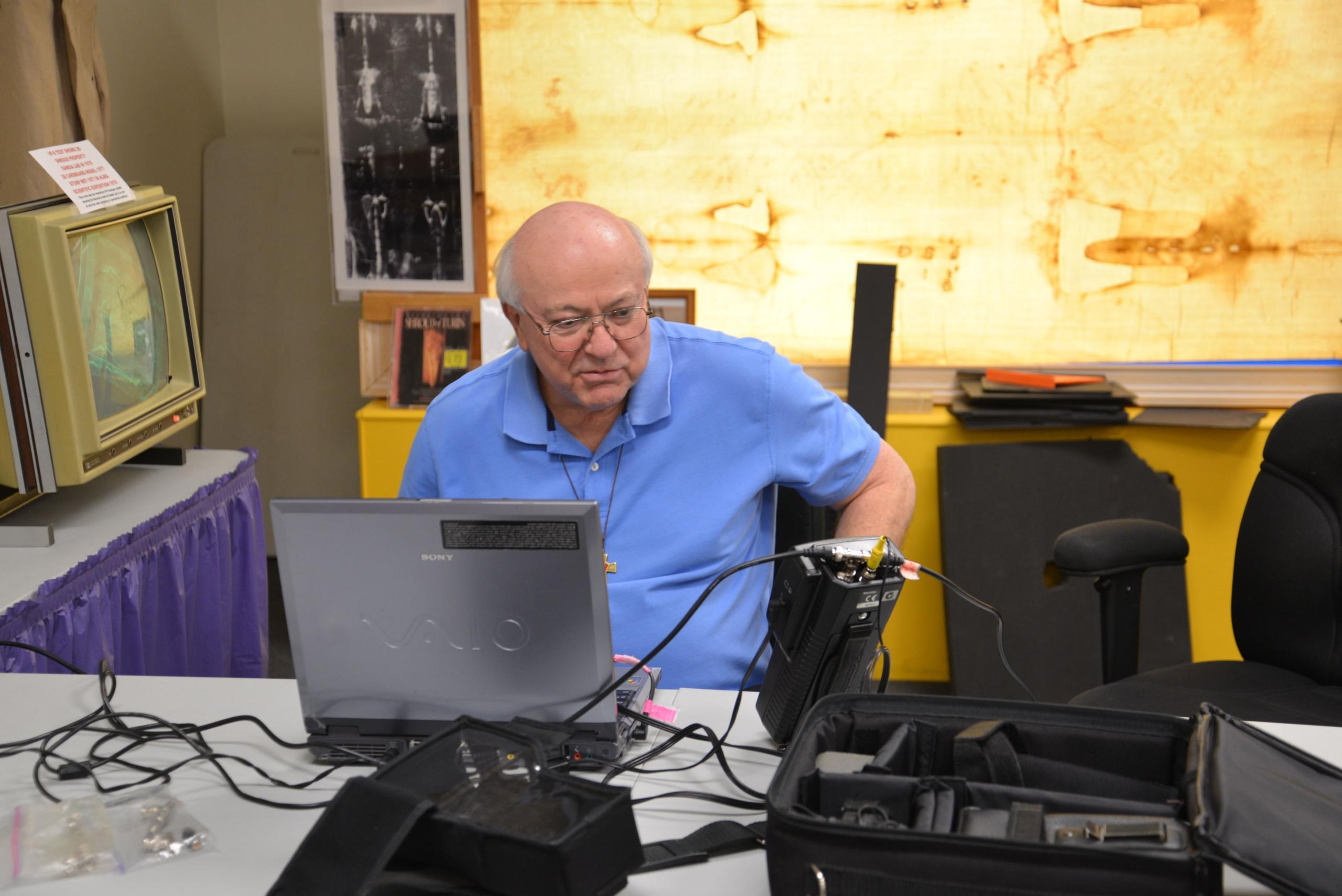 Photo A. Schumacher during research