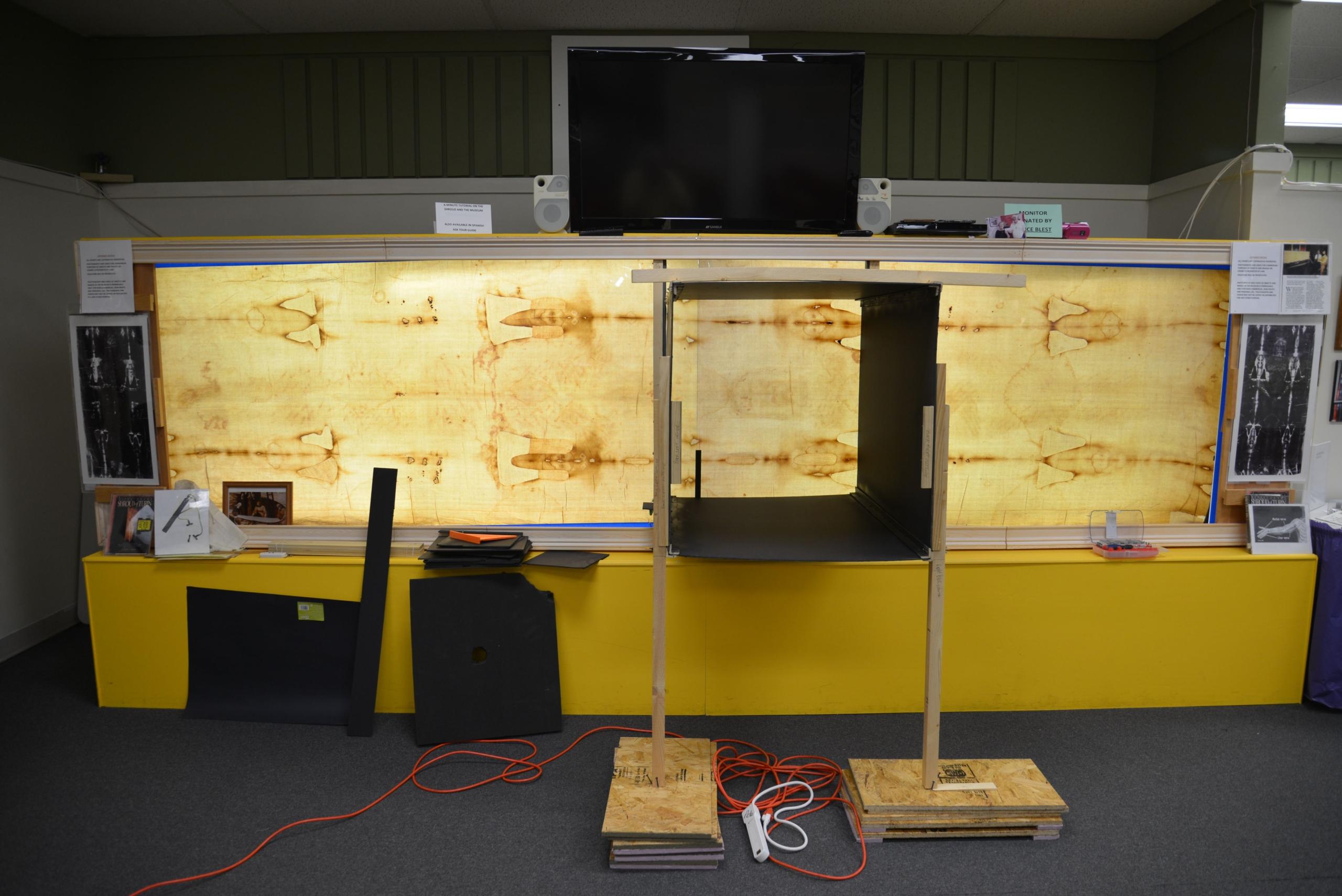 Photo B. Preparing research set-up