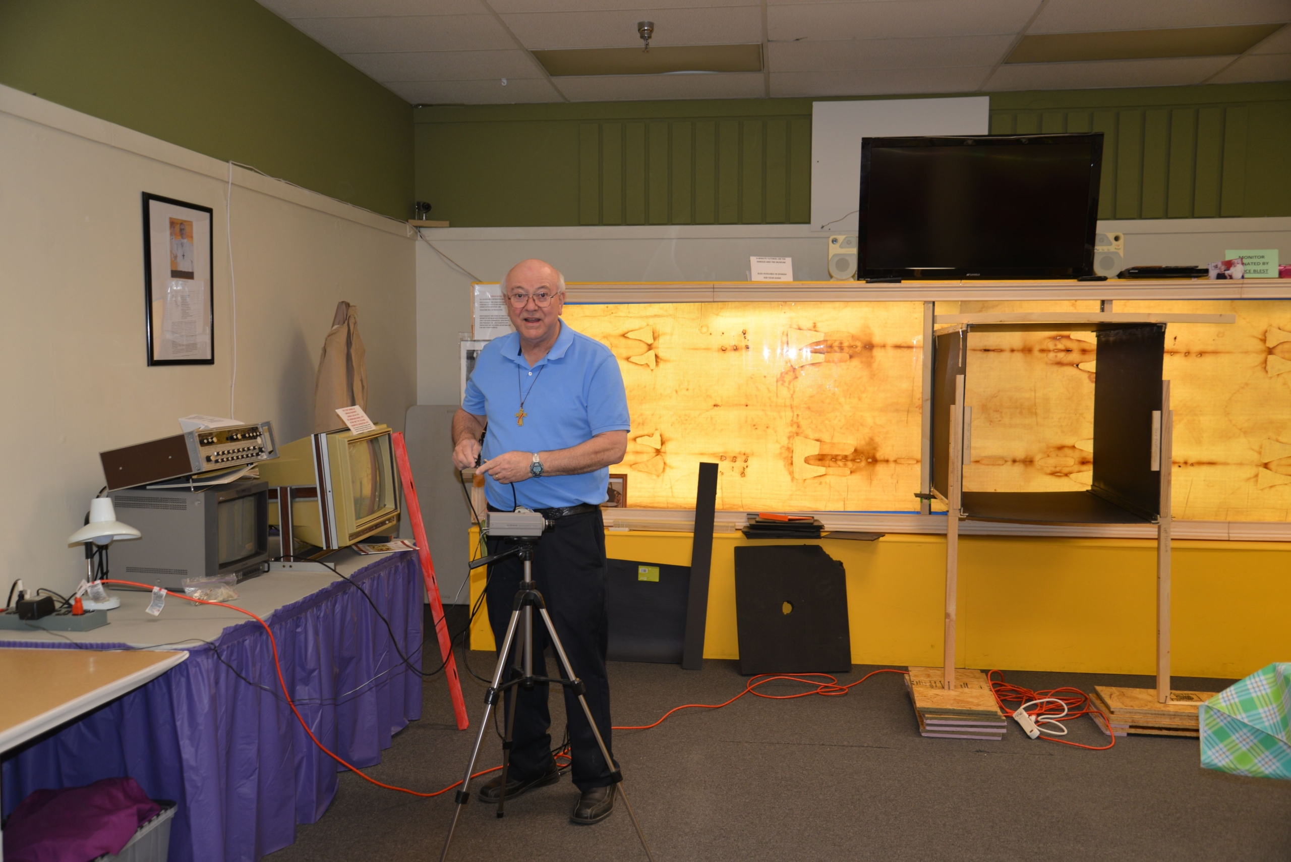 Photo C. Preparing research set-up