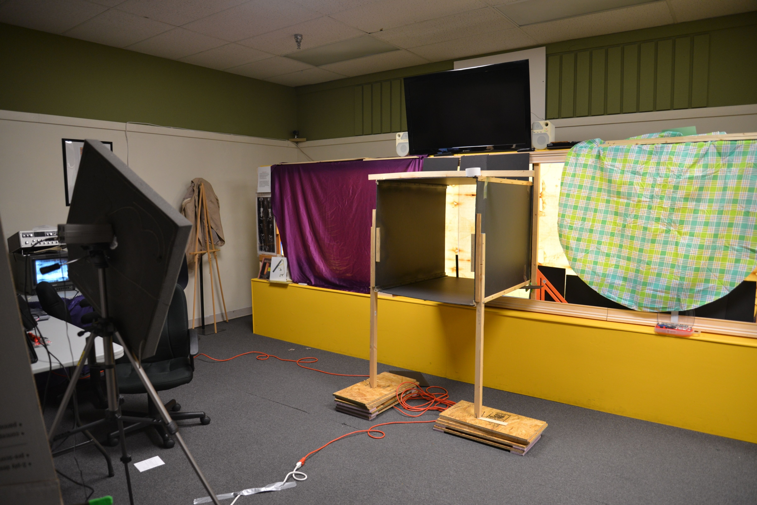 Photo D. Preparing research set-up