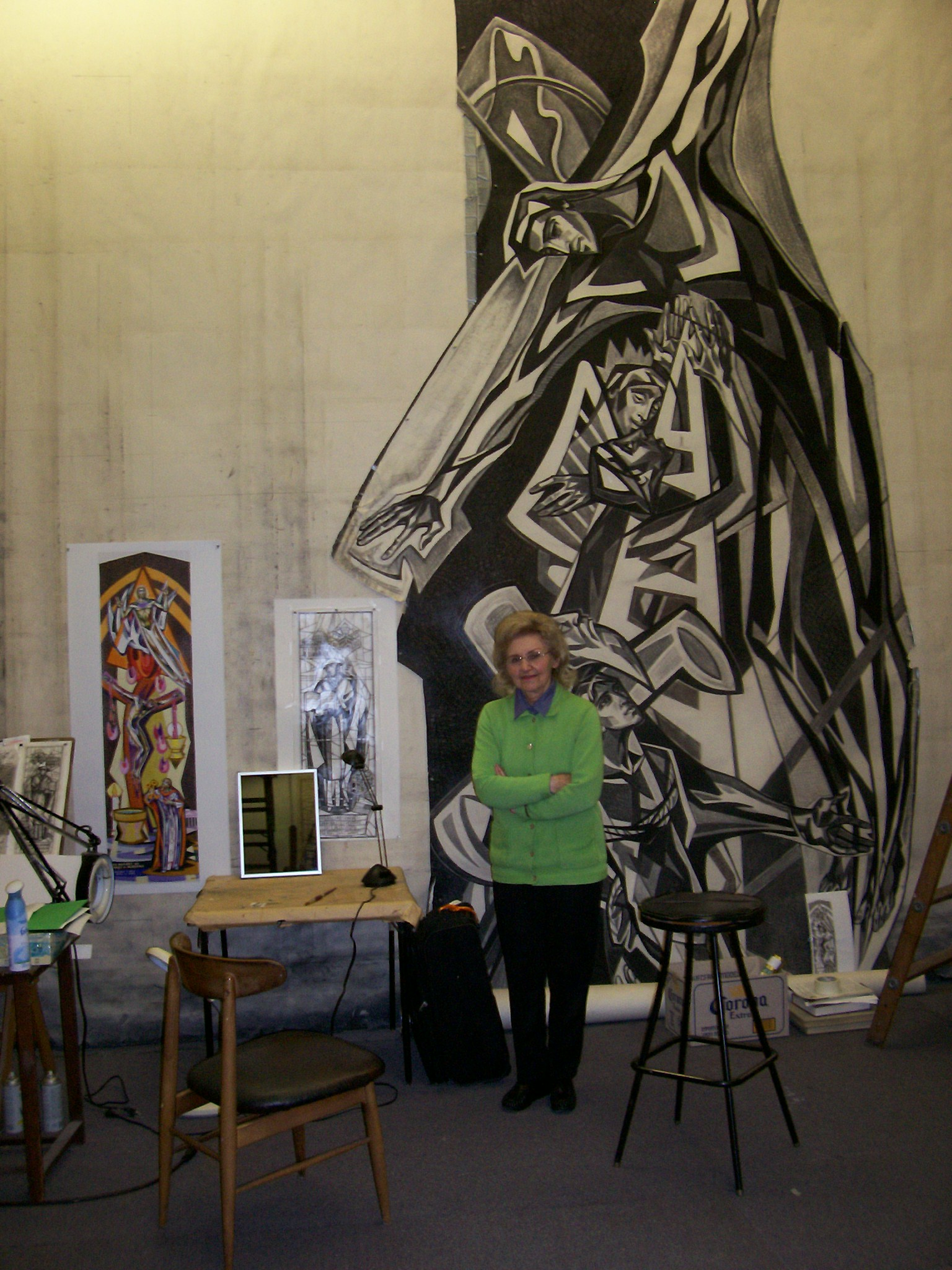 Photo 2. Isabel in her atelier Los Angeles