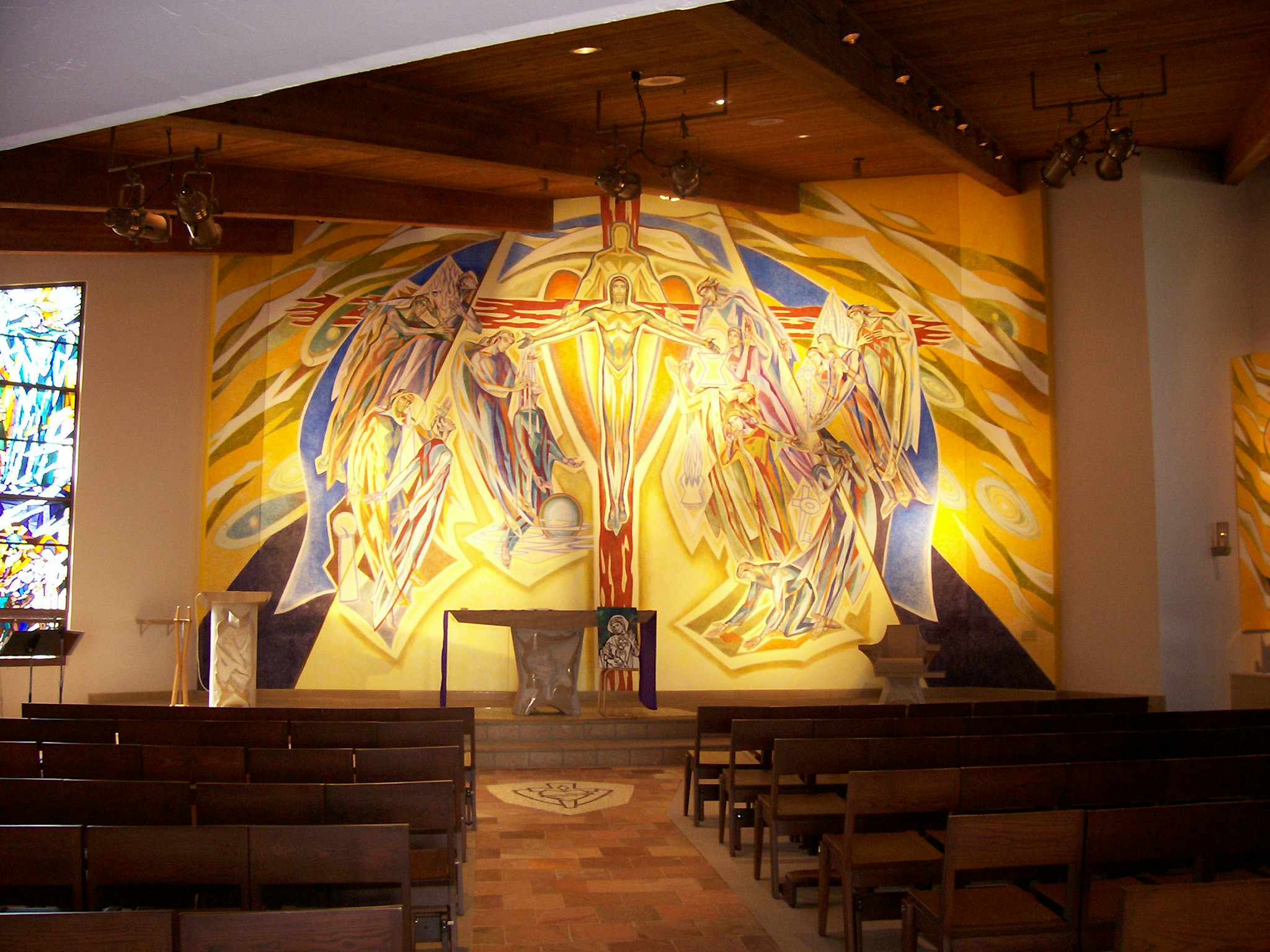 Photo 3. Painting in Catholic Church L.A.