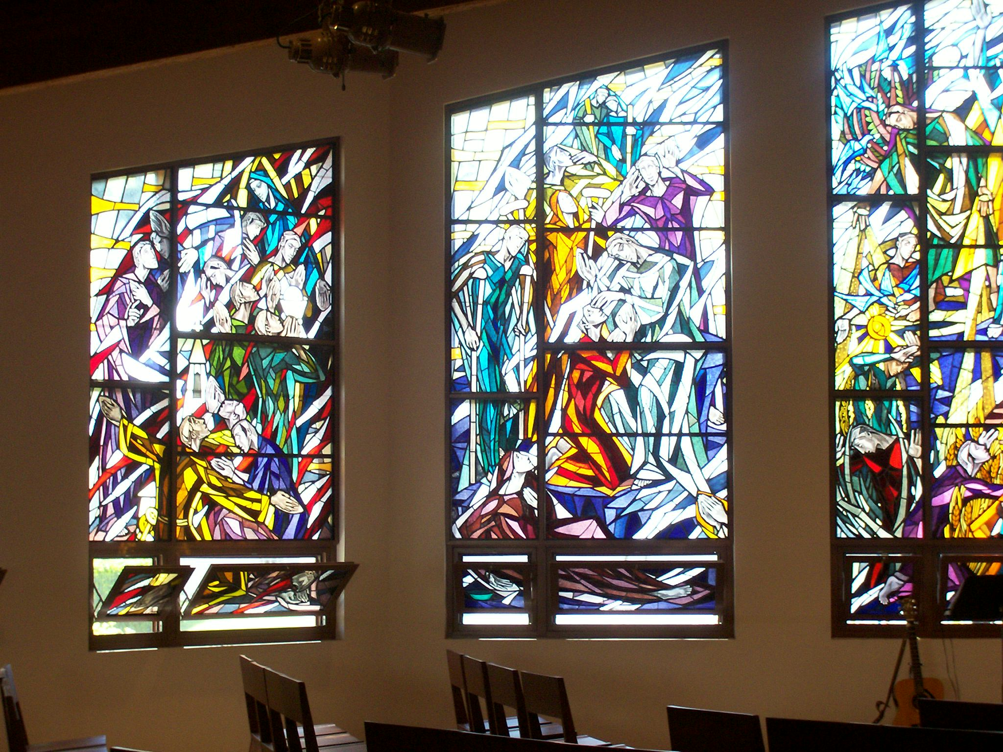 Photo 4. Stained glass windows in Church L.A.