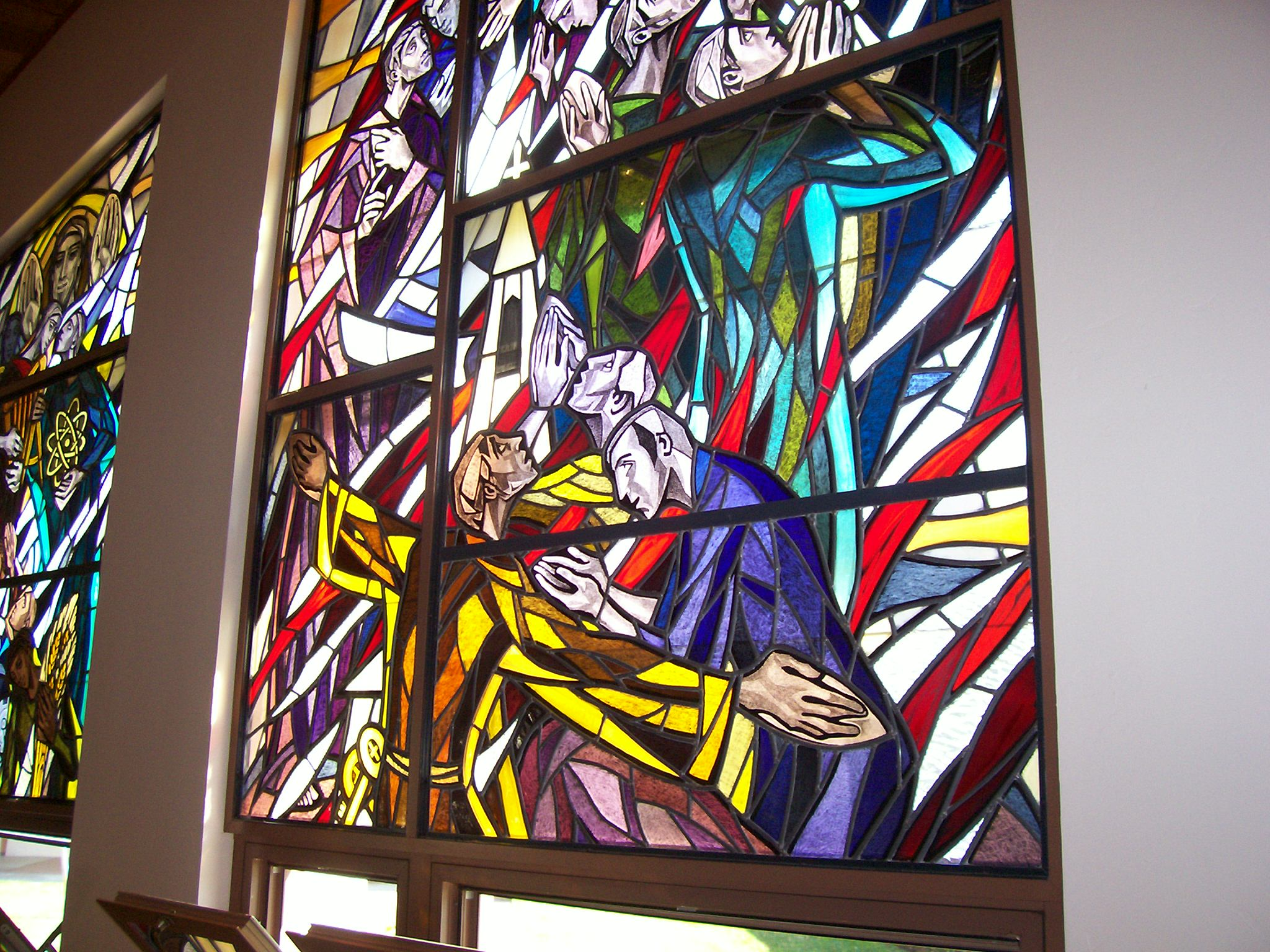 Photo 5. Stained glass windows in Church L.A.