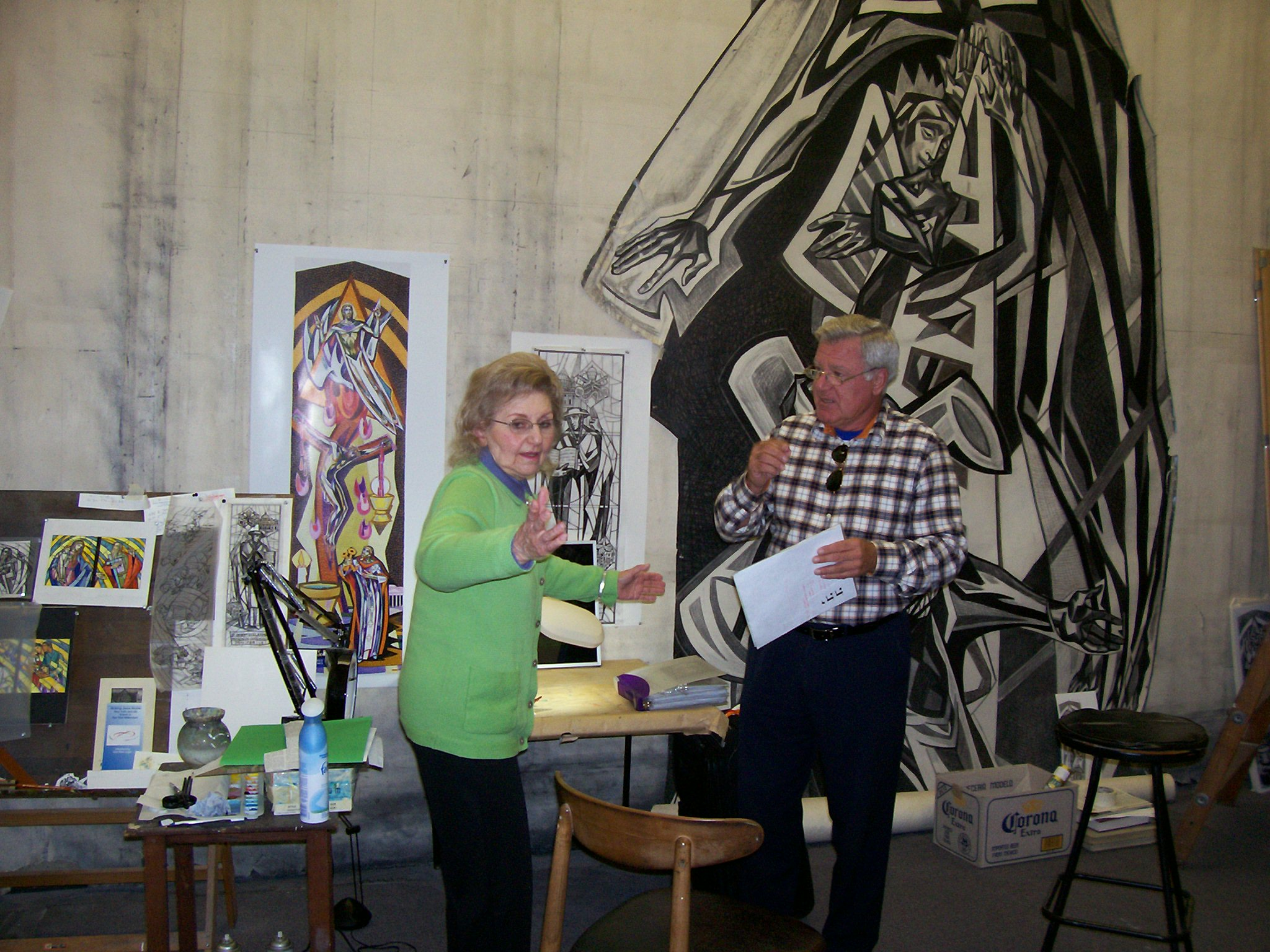 Photo 8. Isabel and Dr. Soons in her atelier