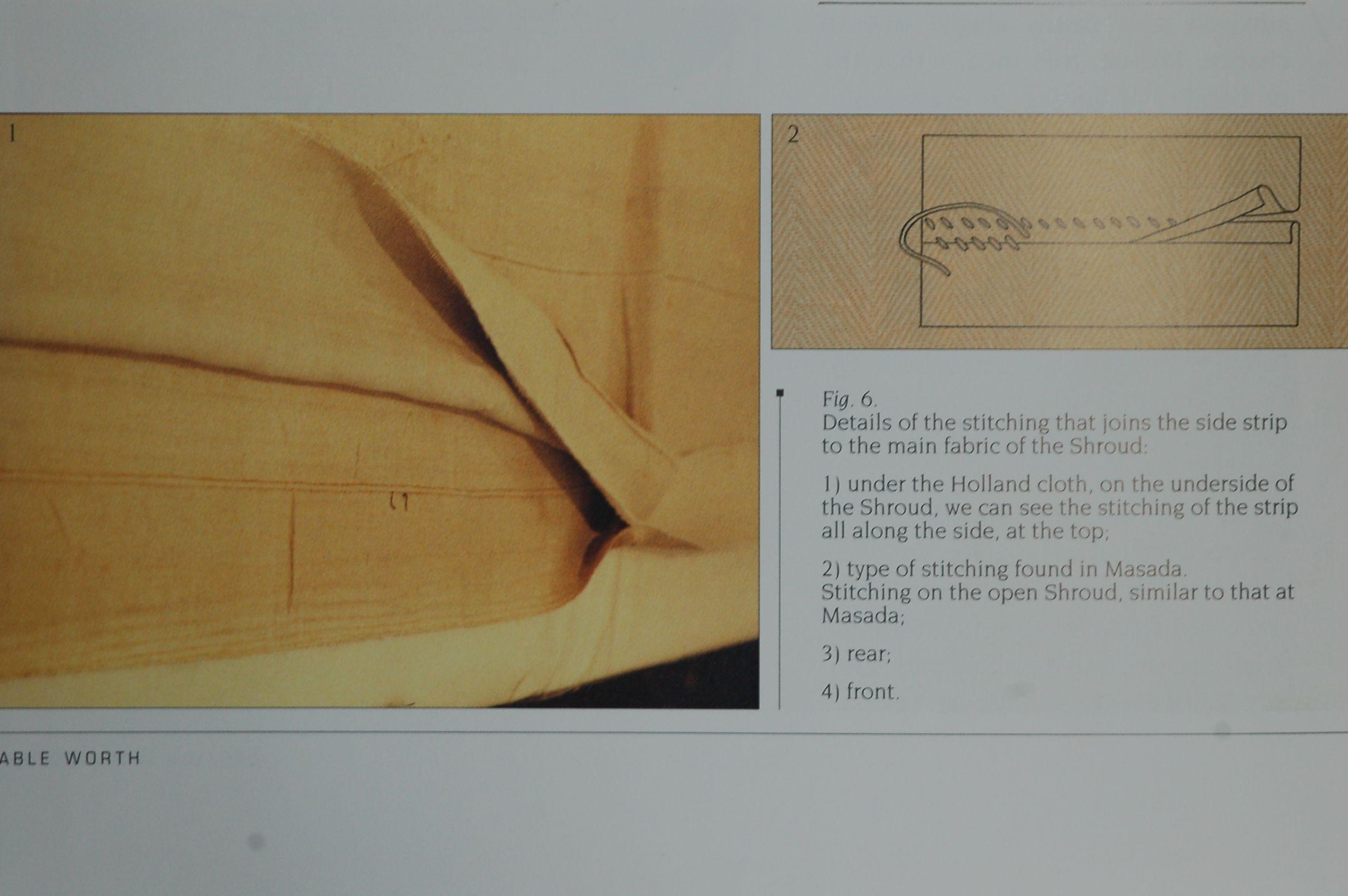 Photo F. Detail of stitching side strip Shroud