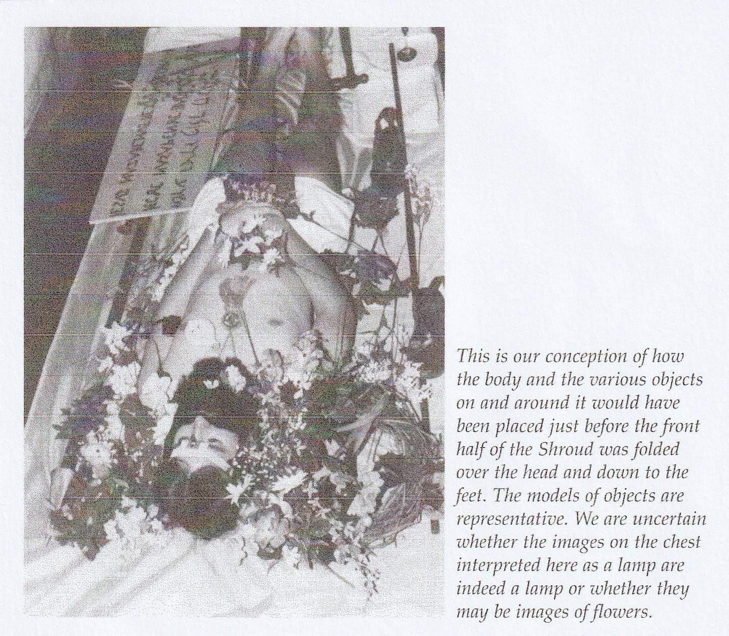Photo 2. Body Shroud with flowers according to Whangers