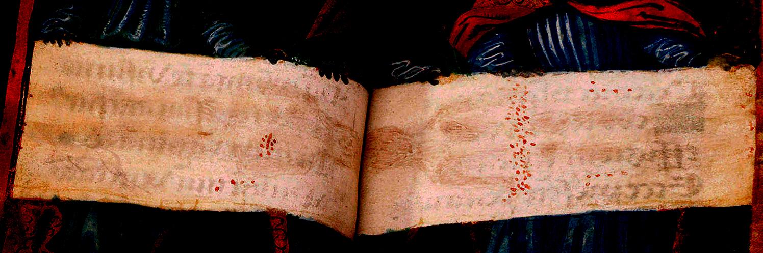 Photo 2. Prayer Book Shroud without fire damage 1532
