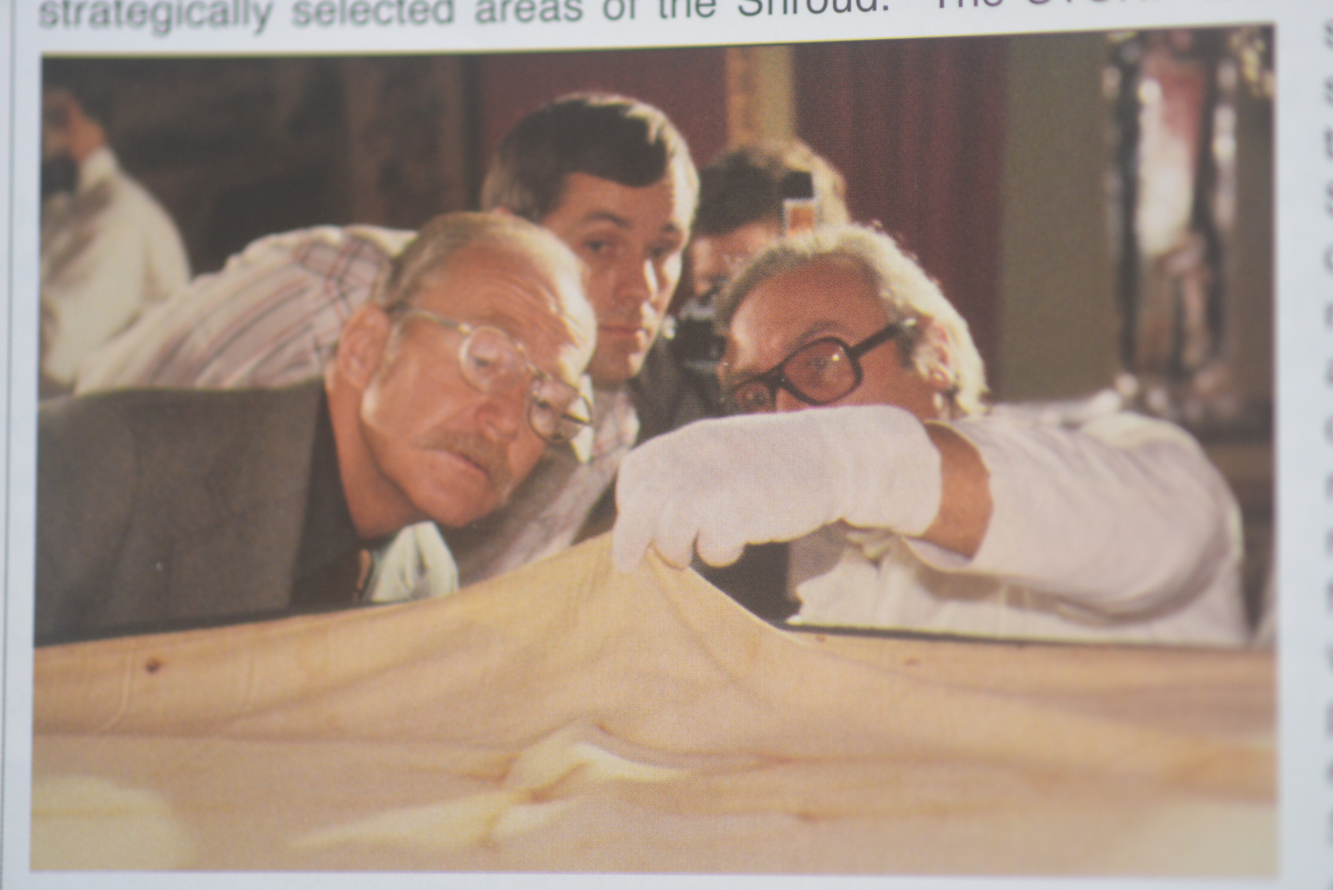 Photo 2. Rogers Jackson during research Shroud