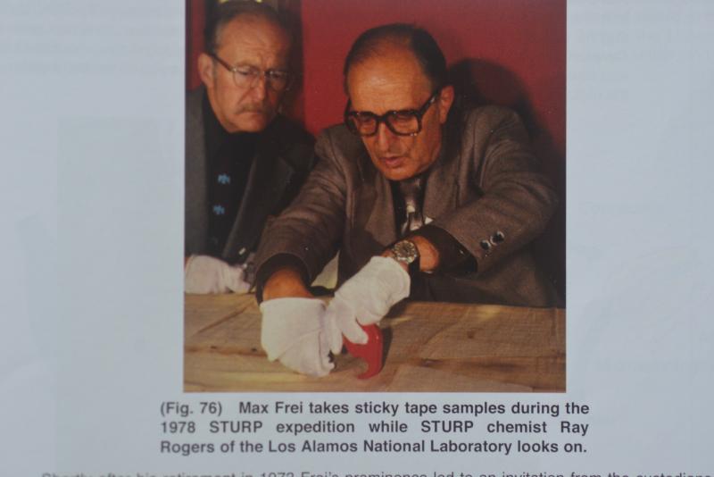 Photo 1. Max Frei taking samples 1978